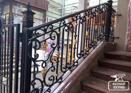 Кованые перила для лестниц - Кузница Казани